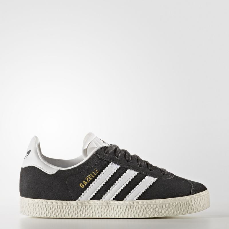 factory authentic aa838 11017 Scarpe Originals Adidas Gazelle Bambino Grigie Scuro Bianche Oro Metal